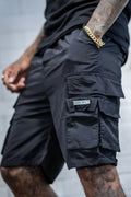 Cargo Utility Combat Short - Black - Serious Royalty