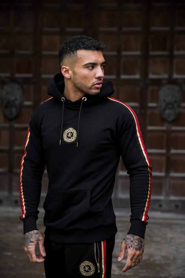 Luxe Tape Hoodie Black - Serious Royalty