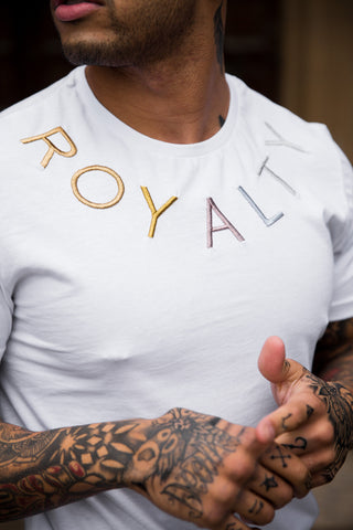 Royalty Metallic T-Shirt White