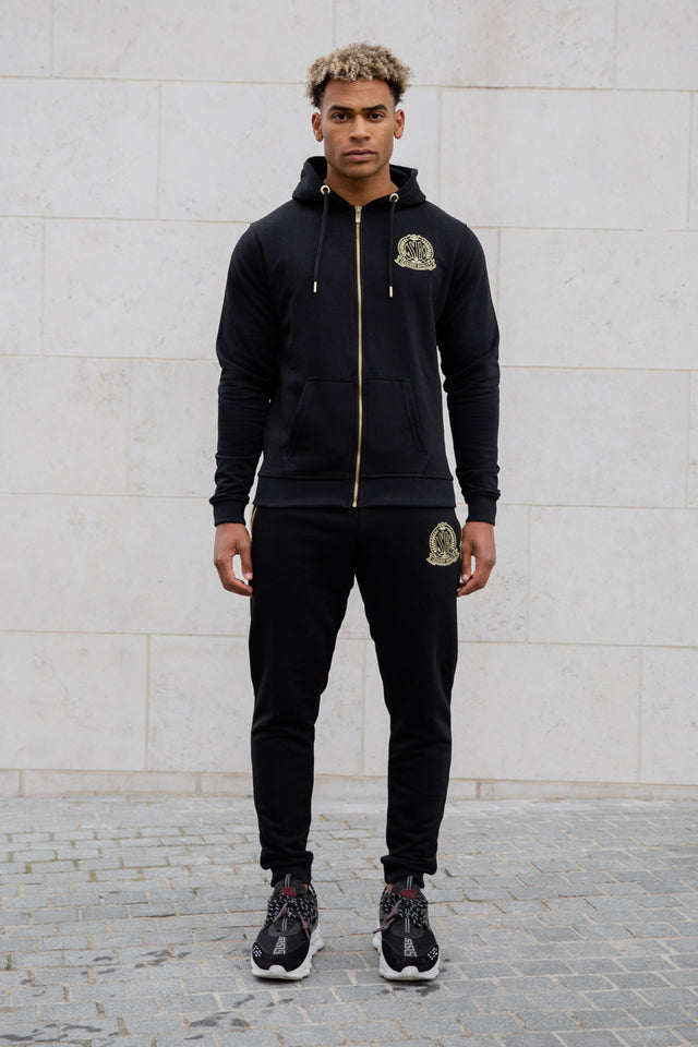 Black Signature Zip Hoody Tracksuit Jacket - Serious Royalty