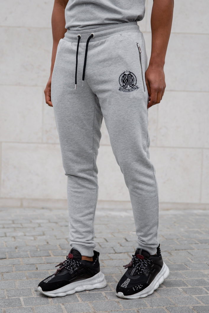 Grey Signature Joggers - Serious Royalty