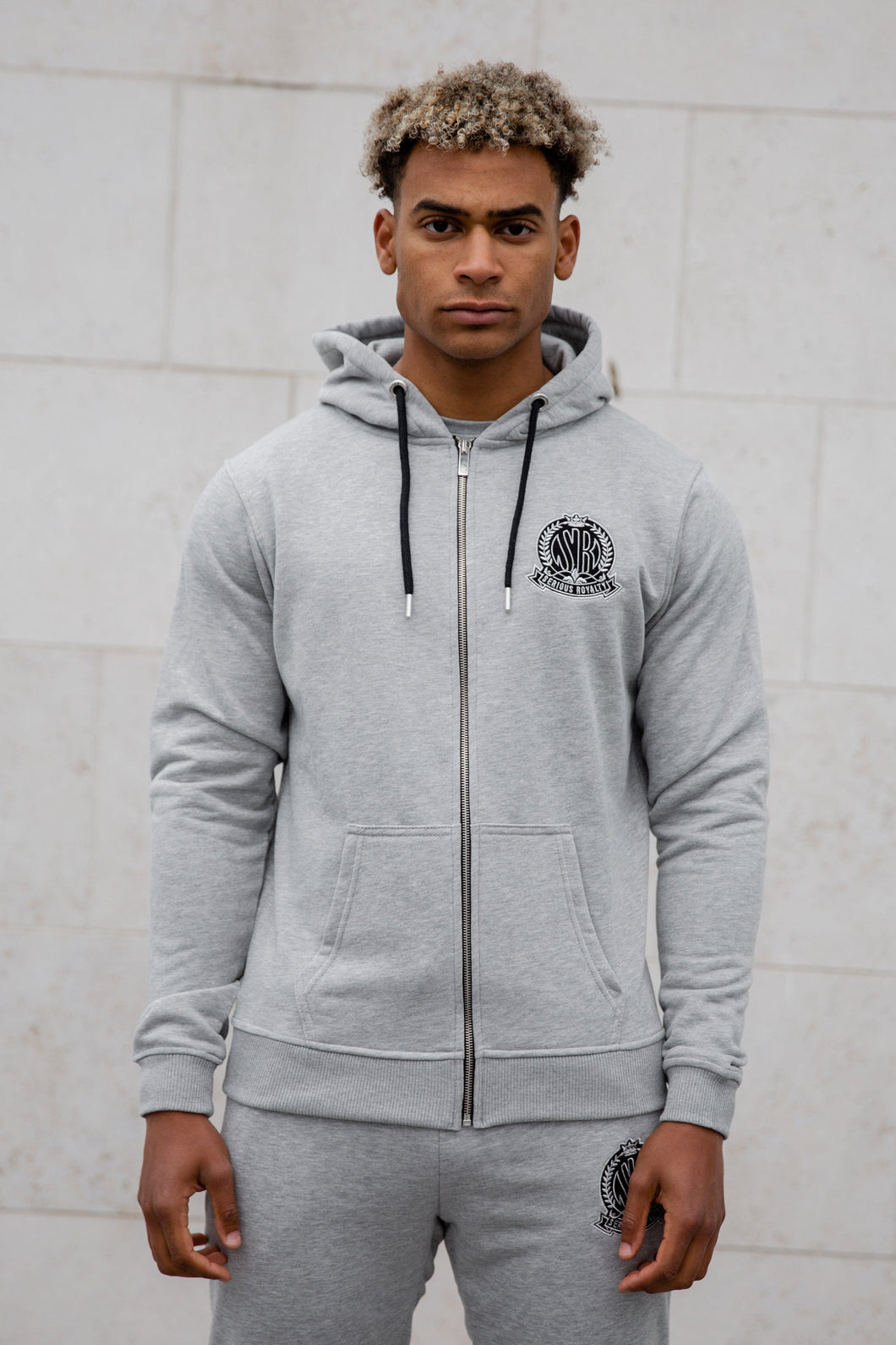Grey Signature Zip Hoody Tracksuit Jacket - Serious Royalty