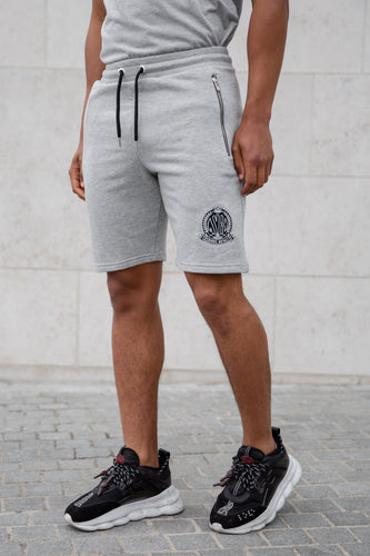 Grey Signature Shorts With Evolved Badge - Serious Royalty