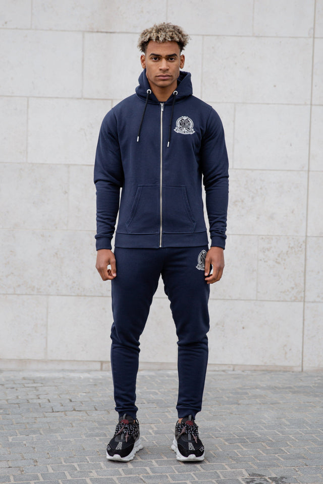 Navy Signature Zip Hoody Tracksuit Jacket - Serious Royalty