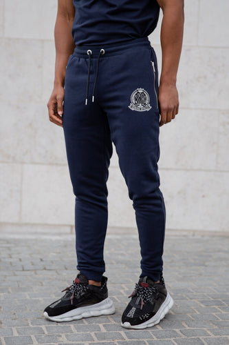 Navy Signature Joggers - Serious Royalty