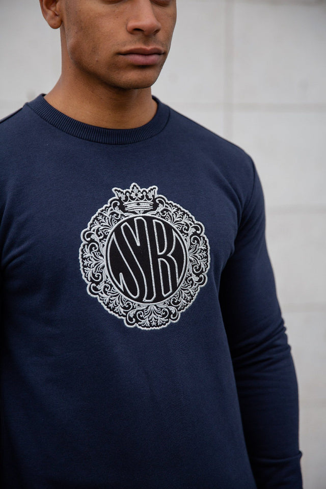 Navy Deluxe Sweatshirt Navy - Serious Royalty