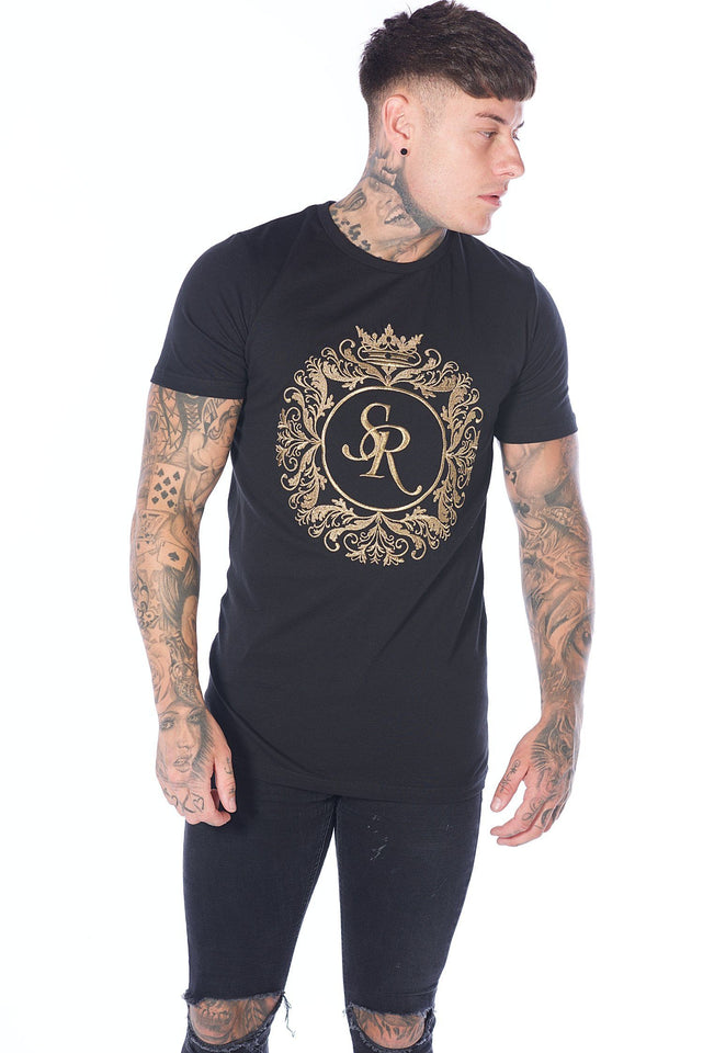 Deluxe Logo T-Shirt Black - Serious Royalty