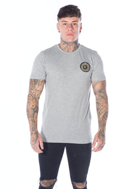 Signature T-Shirt Grey Marl - Serious Royalty