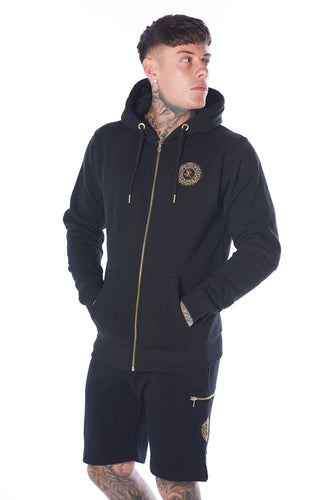 Black Signature Cotton Tracksuit Jacket - Serious Royalty