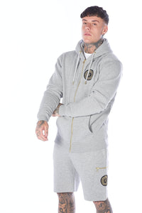 Grey Signature Cotton Tracksuit Jacket - Serious Royalty