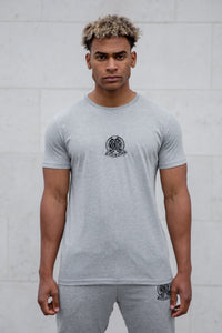Grey Signature Core T-Shirt, Evolved Badge - Serious Royalty