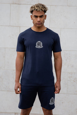 Navy Signature Core T-Shirt, Evolved Badge - Serious Royalty