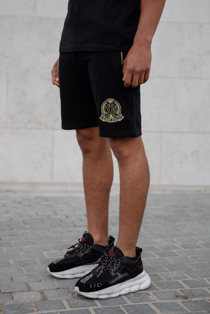 Black Signature Shorts With Evolved Badge - Serious Royalty