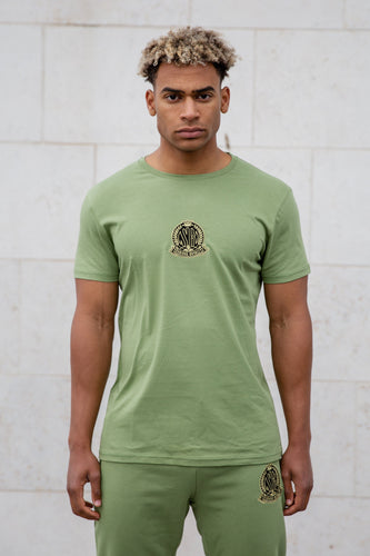 Light Khaki Signature Core T-Shirt, Evolved Badge - Serious Royalty