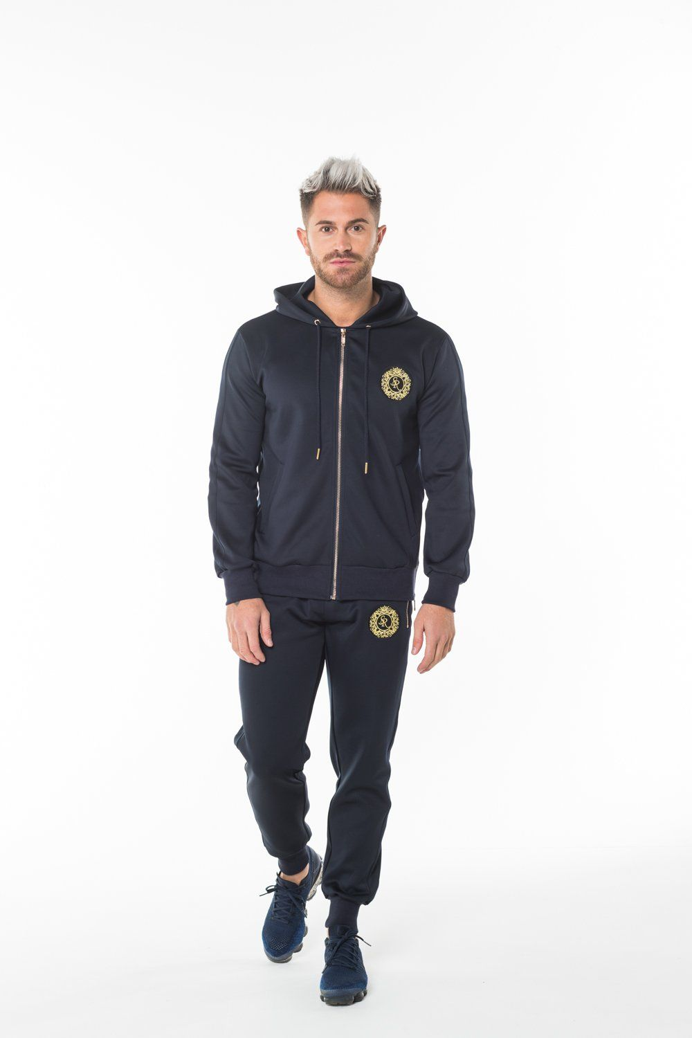 Navy Polyester Tracksuit Jacket - Serious Royalty