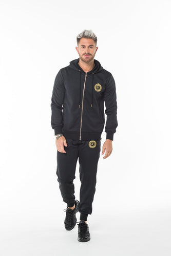 Black Polyester Tracksuit Jacket - Serious Royalty