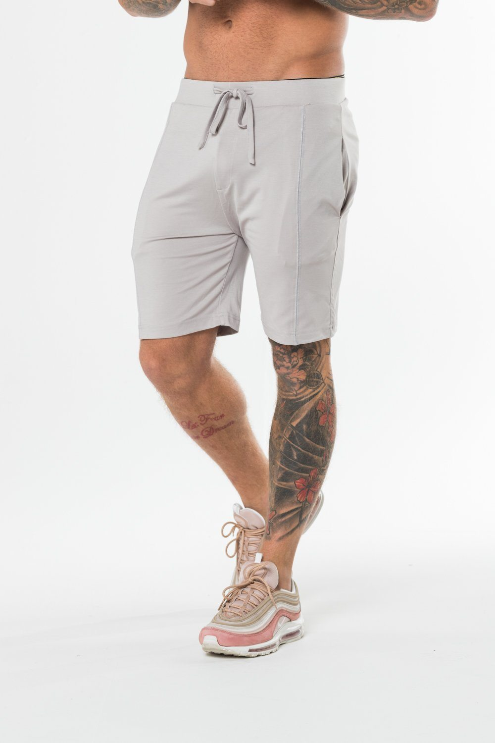 Silver Marl Twin Set Shorts - Serious Royalty