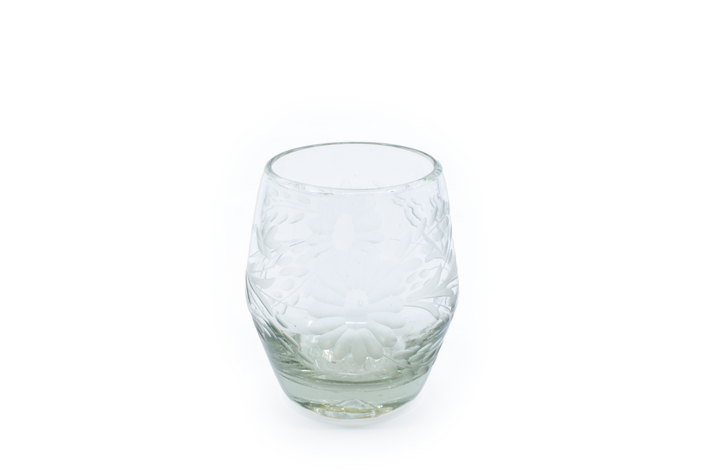 "Barrel Glass ""Flores"" - Clear Crystal"