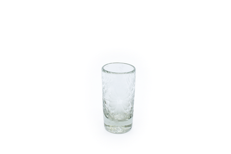 "Shot Glass ""Flores"" - Clear Crystal"