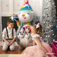 Large Snowman 139cm Foil Balloon