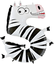 Zooloon Animal Number Balloons 40""