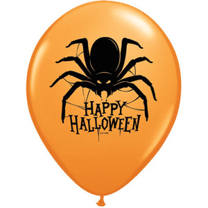 "11"" Latex Halloween Spider Balloon"