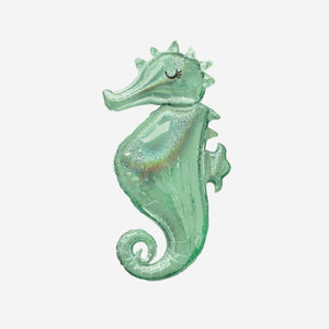 Mermaid Wishes Seahorse SuperShape Foil Balloons