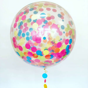 Confetti Giant 3ft Latex Balloon