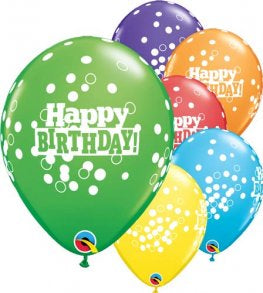 Multicolored Happy Birthday Latex Balloon