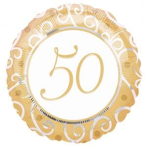 "50th Anniversary 18"" Foil Balloon"