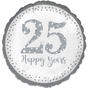 "25th Happy Years 18"" Foil Balloon"