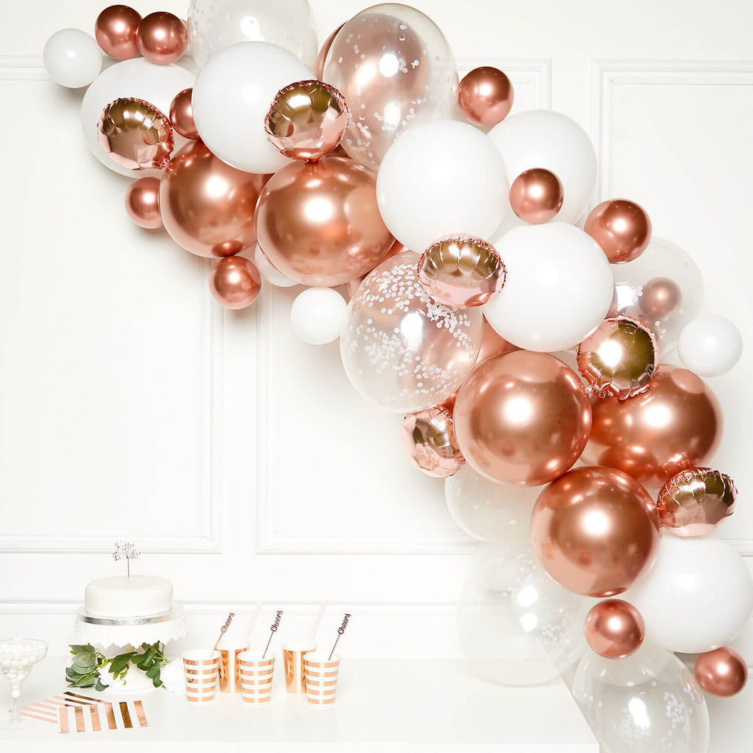 Rose Gold Organic Garland