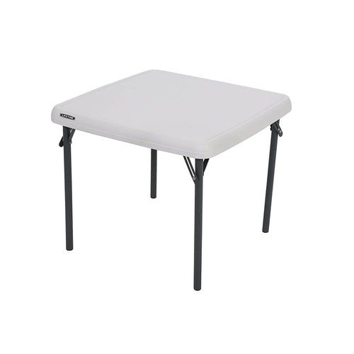 Children's White Square Little Table - 61cm