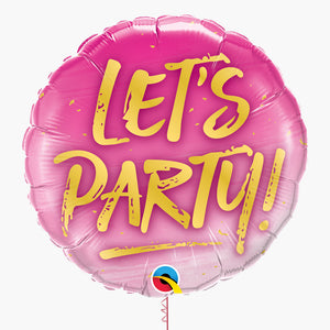"Let's Party Pink 18"" Foil Balloon"