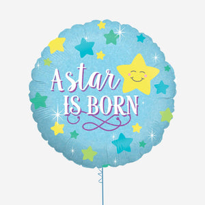 A Star is Born Boy Holographic Foil Balloon