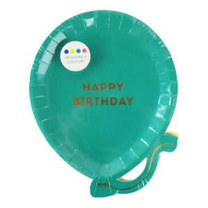 Birthday Balloon Plate