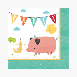 Farm Barnyard Birthday Napkins