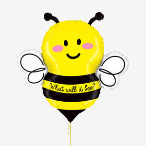 Bee Shape What Will It Be Foil Balloon