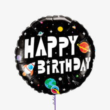 Birthday Astronaut Round Foil Balloon