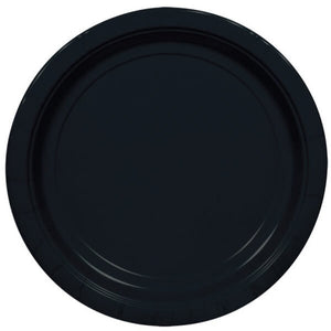 Black Paper Plates (8 pack)