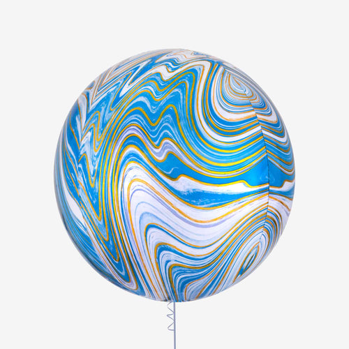 Blue Marblez Orbz XL Foil Balloon
