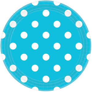 Blue Dots Paper Plates (8 pack)