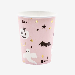 Boo! Party Paper cups pink