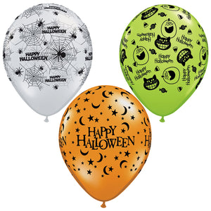 "11"" Latex Halloween Assortment Balloon"