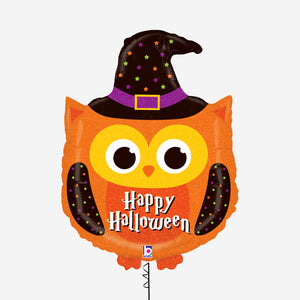 Halloween Owl Holographic Shaped Foil Balloons