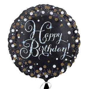 "Happy Birthday Sparkling 18"" Foil Balloon"