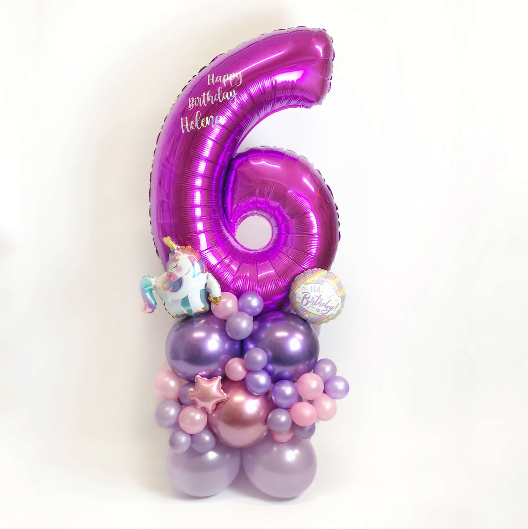 Personalised Purple Number Maxi Bouquet