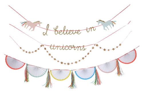 I believe in Unicorn Garland - Meri Meri