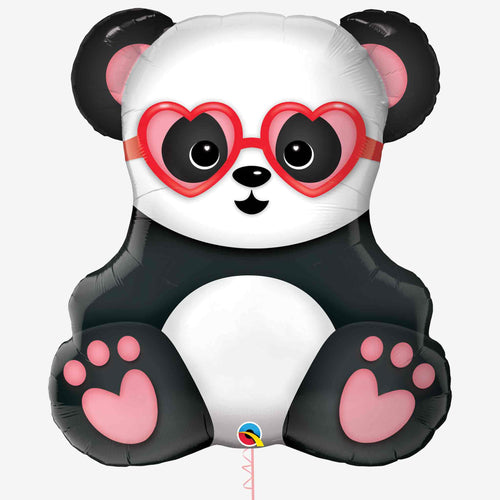 Lovestruck Panda Bear Foil Balloon