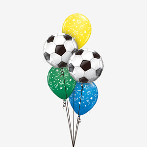 Multicolour Football Balloon Bouquet